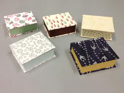 NFCCオープンカレッジ 連続講座「豆本とちいさな箱づくり」 本型の箱