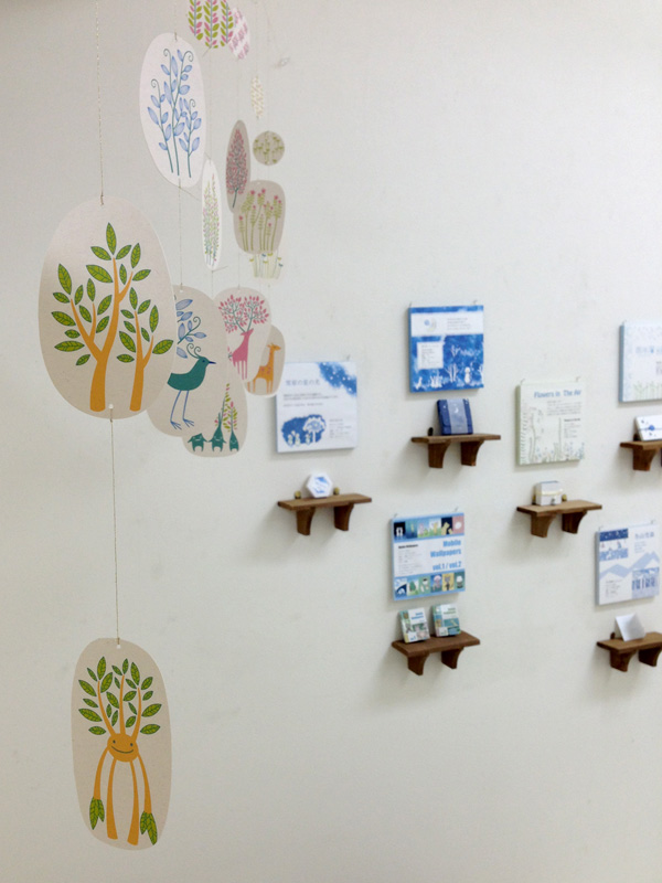 伏見地下街夢画廊 個展「うかぶもの」 展示風景